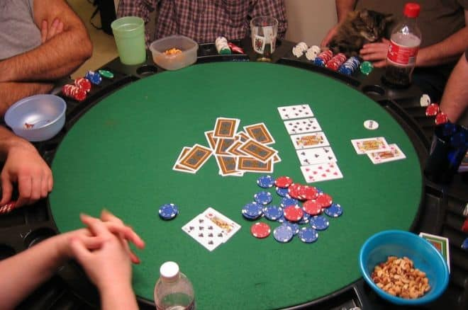 Home Poker Game All In