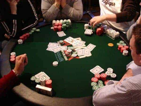 Home Poker Game Round